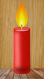 Conflagrant candle of red color Royalty Free Stock Photo