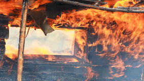 Conflagration stock video footage