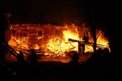 Conflagrazione/bruciare/pompieri /fire, la gente su fuoco Immagine Stock Libera da Diritti