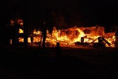Conflagrazione/bruciare/pompieri /fire, la gente su fuoco Fotografie Stock Libere da Diritti