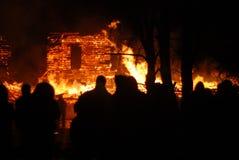Conflagrazione/bruciare/pompieri /fire, la gente su fuoco Immagini Stock Libere da Diritti