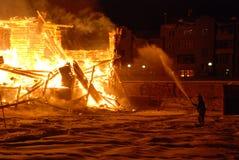 Conflagrazione/bruciare/pompieri /fire, la gente su fuoco Immagini Stock