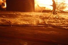 Conflagrazione/bruciare/pompieri /fire, la gente su fuoco Fotografie Stock