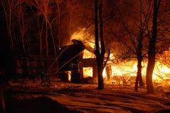 Conflagrazione/bruciare/pompieri/fuoco, la gente su fuoco Fotografia Stock Libera da Diritti