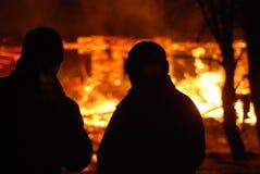 Conflagrazione/pompieri brucianti /fire, la gente su fuoco Immagine Stock Libera da Diritti