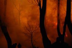 Conflagrazione/pompieri brucianti /fire, la gente su fuoco Immagine Stock