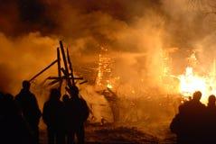 Conflagrazione/pompieri brucianti /fire, la gente su fuoco Immagini Stock