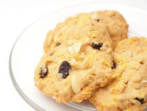 Conflex and raisin cookies Royalty Free Stock Photos
