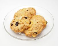 Conflex and raisin cookies Royalty Free Stock Images