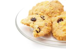 Conflex and raisin cookies Royalty Free Stock Image