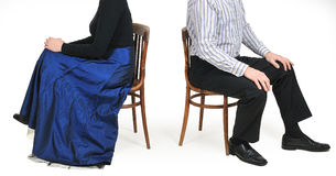 Conflict. Couple sitting back to back after a conflict Royalty Free Stock Photography