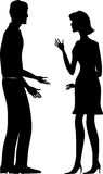 Conflict. Man and woman conflicting vector illustration