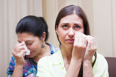 Conflict and adult sisters Royalty Free Stock Image