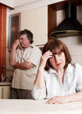 Conflict adults couple Royalty Free Stock Images