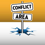 Conflict area plates Royalty Free Stock Image