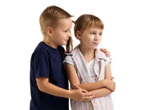 Conflict between a boy and a girl Stock Photo