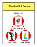 Conflict. Business cartoon illustration depicting conflict drama royalty free illustration