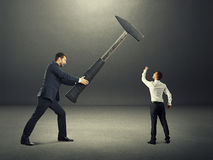 Conflict between businessmen Stock Image