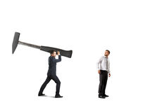 Conflict between businesspeople Stock Photos