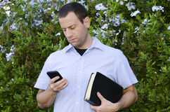 Conflict of a Christian and the distractions of the world. Royalty Free Stock Photo
