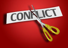 Conflict concept Stock Photo