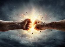 Conflict Concept - Two Fist. In Impact stock photography