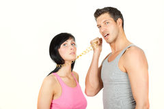 Conflict couple stock photography