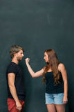 The conflict of couple Stock Photos
