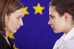 Conflict in european politics Stock Photography