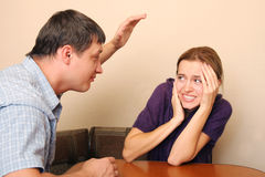 Conflict in family. Conflict in the family 1 Stock Image