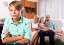 Conflict in a family Stock Image