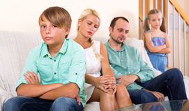 Conflict in a family Stock Photography