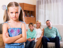Conflict in a family Royalty Free Stock Photography