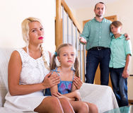Conflict in a family Royalty Free Stock Images