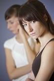 Conflict between female friends. Conflict between two women - shot in studio Stock Image