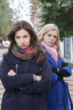 Conflict among friends Stock Photography