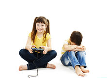 Conflict for games. Isolated on white background Stock Images