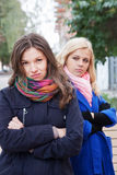 Conflict among girlfriends Stock Images