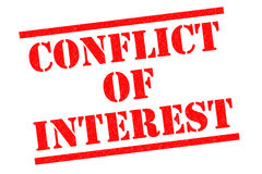 CONFLICT OF INTEREST Royalty Free Stock Photography