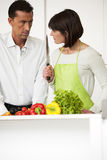Conflict In The Kitchen Stock Images