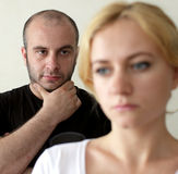 Conflict between man and woman Royalty Free Stock Photo