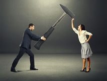 Conflict between man and woman Royalty Free Stock Image