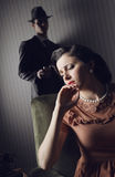 Conflict between the man and woman Stock Photography