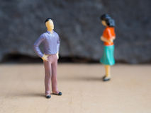 Conflict between man and woman Royalty Free Stock Photography