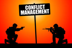 Conflict management. Trying to manage ongoing conflicts Royalty Free Stock Photo