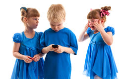 Conflict over the phone Royalty Free Stock Photography