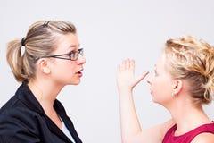 Conflict på arbetsplatsen arkivbild