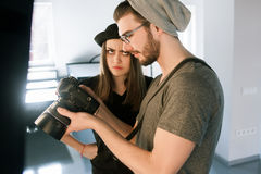 Conflict with photographer on photoshoot Stock Image