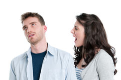 Conflict and quarrel royalty free stock image