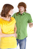 Conflict in relationship Stock Images